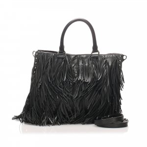 Prada Leather Fringe Satchel