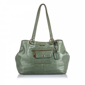 Prada Leather Pocket Tote Bag