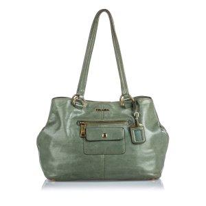 Prada Leather Pocket Tote Bag