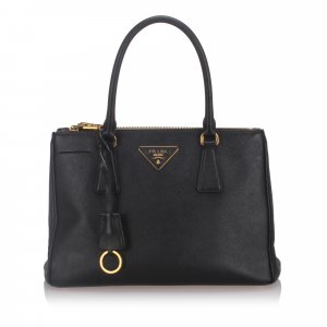Prada Leather Saffiano Galleria Satchel
