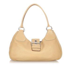 Prada Shoulder Bag beige leather