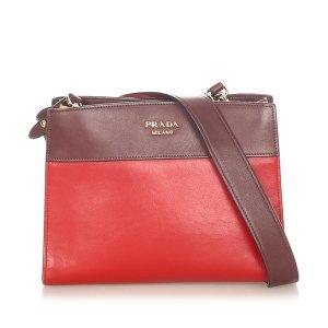 Prada Shoulder Bag red leather