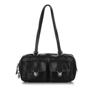 Prada Shoulder Bag black leather