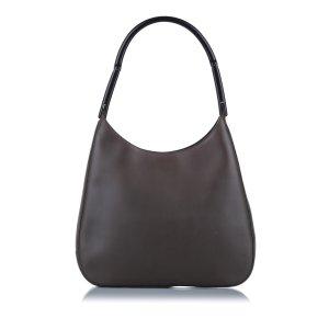 Prada Bolsa de hombro marrón Cuero