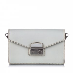 Prada Leather Sound Crossbody Bag