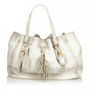 Prada Tote white leather