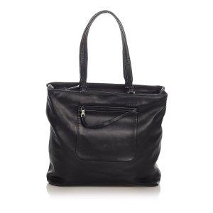 Prada Tote dark brown leather
