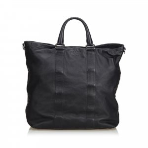 Prada Tote black leather
