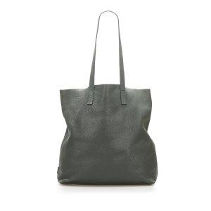 Prada Tote green leather