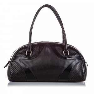 Prada Leather Vitello Drive Bowler Handbag