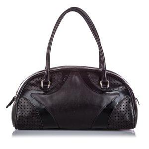 Prada Leather Vitello Drive Bowler Handbag