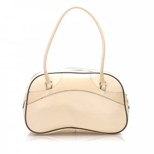 Prada Leather Vitello Drive Bowler Shoulder Bag