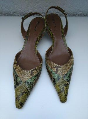 PRADA Leder Pumps Gr.39,5 Absatzschuhe Spitz Schuhe Made in Italy