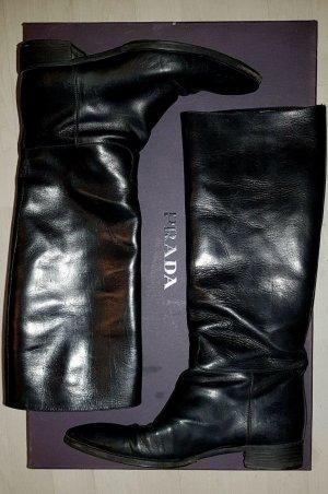 Prada Jackboots black leather