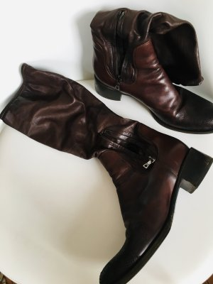 Prada Short Boots brown red leather