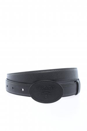 """Prada Cinturón de cuero """"Logo Belt Saffiano"""" negro"""