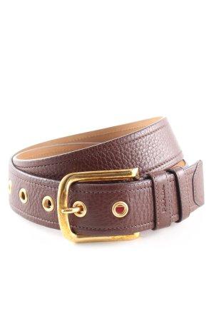 Prada Faux Leather Belt brown casual look