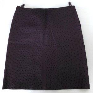 Prada Lederrock 36 S Lila Straussenleder Rock Leder Oyster Leather Skirt Purple IT 42