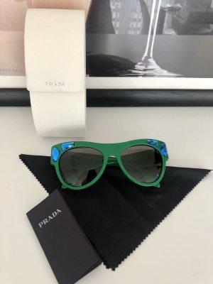 Prada Ovale zonnebril groen-blauw
