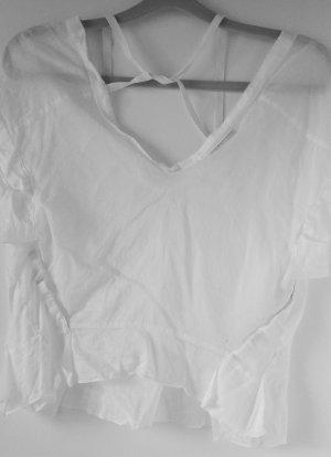 PRADA LINEA ROSSA  Bluse in Weiß Gr. DE 38