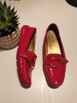 prada loafer in magenta