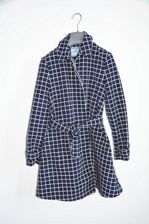 Prada Zware regenjas donkerblauw-wit Polyester