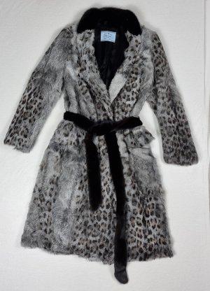 Prada Manteau de fourrure multicolore fourrure