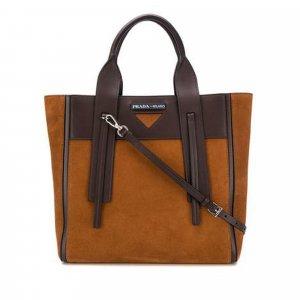 Prada Medium Ouverture Suede Tote Bag