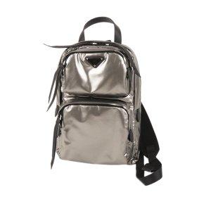 Prada Metallic PVC Backpack