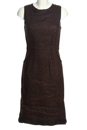 Prada Robe mi-longue brun moucheté style décontracté