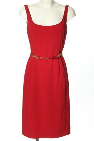 Prada Midi Dress red striped pattern casual look