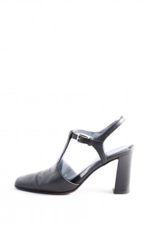 Prada Milano High Heel Sandaletten schwarz Business-Look