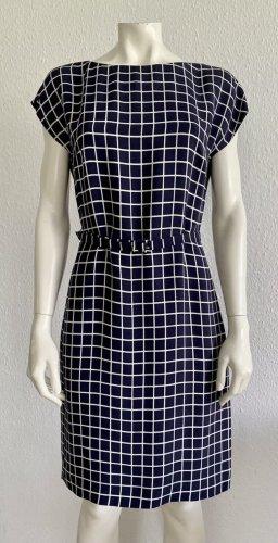 Prada Midi-jurk donkerblauw-wolwit