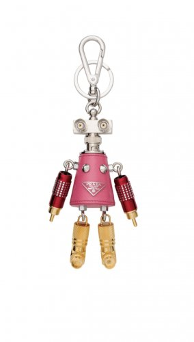 Prada Milano Key Chain multicolored leather