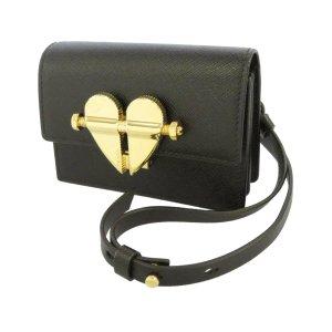 Prada Mini Saffiano Heart Crossbody Bag