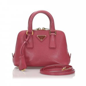 Prada Mini Saffiano Leather Lux Promenade Satchel