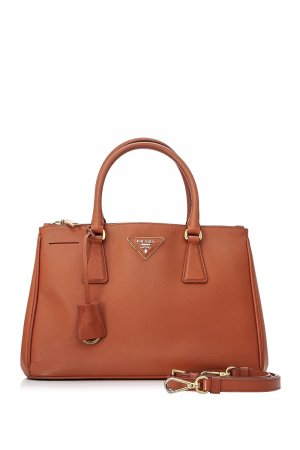 Prada Mini Saffiano Lux Double Zip Galleria Satchel