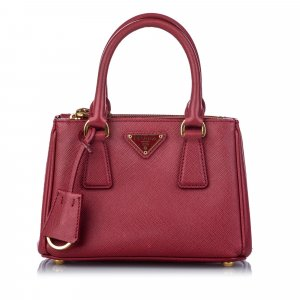 Prada Satchel red leather