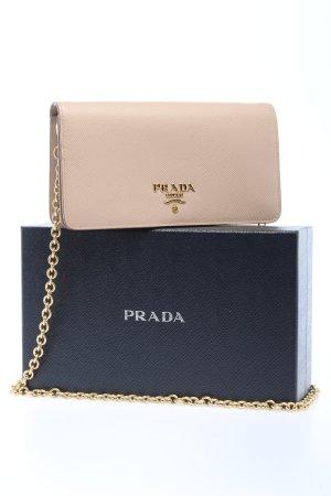 "Prada Mini Bag ""Logo Wallet on Chain Saffiano"" cream"