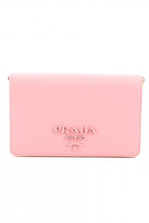 "Prada Minitasje ""Saffiano Leather Wallet Bag Rose"" roze"