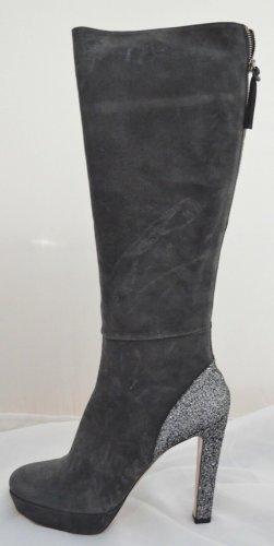 Prada MIU MIU Ladies Glitter Stiefel gr.40 , Schwarz , Luxus Pur !
