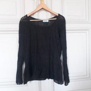 Prada Jersey de punto negro tejido mezclado