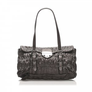 Prada Nappa Gaufre Sound Lock Shoulder Bag