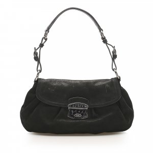 Prada Nubuck Leather Shoulder Bag