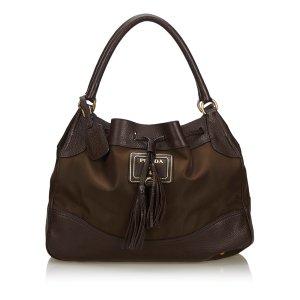 Prada Nylon Drawstring Handbag
