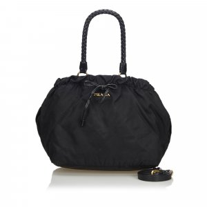 Prada Nylon Drawstring Satchel