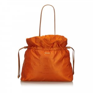 Prada Nylon Drawstring Shopper Tote Bag