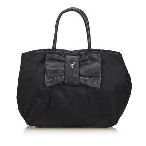 Prada Nylon Fiocco Bow Handbag