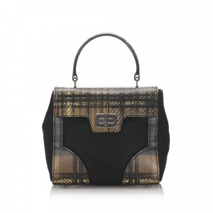 Prada Nylon Plaid Satchel