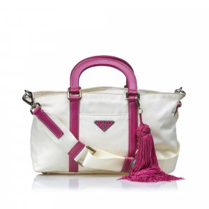 Prada Satchel white nylon